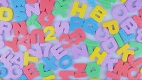 Английский алфавит и номера сток-видео