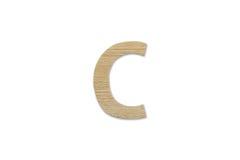 Английский алфавит c сделанный от изолированной древесины на белой предпосылке Стоковое Изображение RF