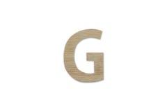 Английский алфавит g сделанный от изолированной древесины на белой предпосылке Стоковое Изображение