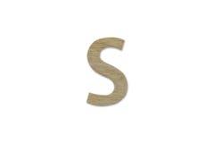 Английский алфавит s сделанный от изолированной древесины на белой предпосылке Стоковое фото RF