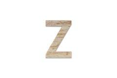 Английский алфавит z сделанный от изолированной древесины на белой предпосылке Стоковые Изображения RF