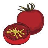 Английский завтрак - зажаренные томаты Стоковые Изображения