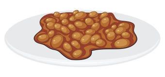 Английский завтрак - сваренные фасоли Стоковая Фотография RF