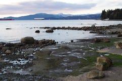 Английский залив в парке Стэнли в Ванкувере Стоковые Фотографии RF