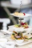 Английский комплект плотного ужина с чаем Стоковые Изображения