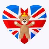 Английский плюшевый медвежонок Стоковое Изображение