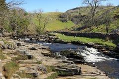 Английский сельский ландшафт в участках земли Йоркшира Стоковая Фотография