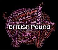 Английский фунт показывает валютную биржу и чеканку иллюстрация штока
