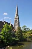 Англиканская церковь St. Alban в Копенгагене, Дании Стоковые Фотографии RF