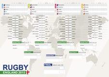 Англия 2015, рэгби 2015 с предпосылкой, план-графиком спички, всеми мамами Стоковые Фото
