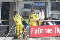 Англия 2012 v Австралия 4-ый один international дня Стоковые Изображения RF