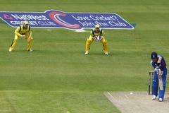 Англия 2012 v Австралия 4-ый один international дня Стоковое Изображение
