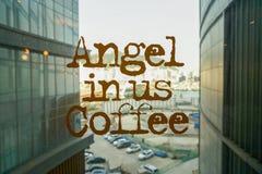 Анджел-в-мы кофе стоковое изображение