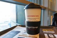 Анджел-в-мы кофе стоковые изображения