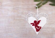 Анджел в сердце как украшение рождества Стоковое Фото