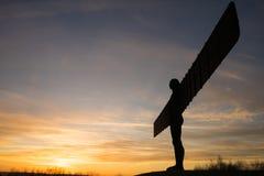 Анджел севера - заход солнца Стоковые Фотографии RF