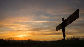 Анджел севера - заход солнца Стоковая Фотография