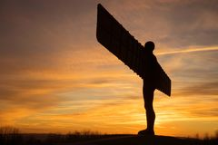 Анджел севера - заход солнца Стоковое Изображение RF