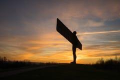 Анджел севера - заход солнца Стоковая Фотография RF