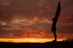 Анджел севера - заход солнца Стоковые Изображения RF