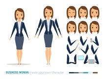 Анимация бизнес-леди Стоковое Изображение RF