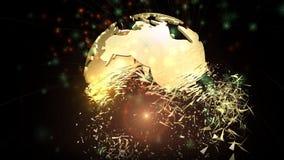 Анимация вращая глобуса земли иллюстрация штока
