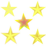 Анимация влияния листа спрайта закручивая золотой звезды Стоковые Изображения RF
