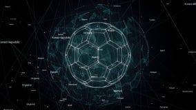 Анимация глобальной вычислительной сети, видео 4k