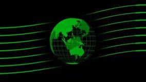 Анимация глобуса мира - предпосылка студии для последних новостей иллюстрация штока
