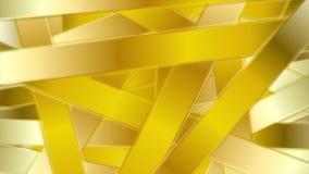 Анимация золотых абстрактных нашивок роскошная видео- иллюстрация штока