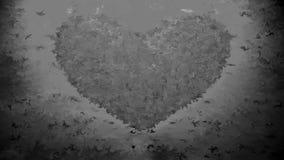 Анимация и пикселы сердца видеоматериал
