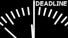 Анимация комплекса предпусковых операций часов к крайнему сроку перевод 3d иллюстрация штока