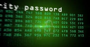 Анимация концепции компьютера, интернета и безопасности данных