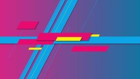 Анимация красочной минимальной геометрии конспекта видео- иллюстрация штока