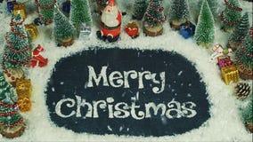 Анимация механизма прерывного действия с Рождеством Христовым Стоковое Фото