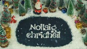Анимация механизма прерывного действия Nollaig Chridheil Шотландии, в английское с Рождеством Христовым Стоковые Фотографии RF