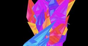 Анимация мультяшного красочного кристалла двигая и делая картины акции видеоматериалы