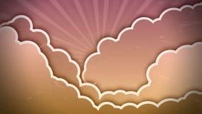 Анимация неба осени иллюстрация штока