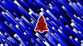 Анимация небольшого затруднения праздников рождества и Нового Года закрепленная петлей искажением видеоматериал