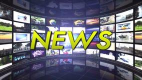 Анимация новости и комната мониторов, перевод, предпосылка, петля, 4k бесплатная иллюстрация