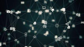 Анимация от медленного двигая соединенного интернета вещей