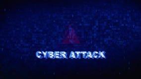 Анимация ошибки эффекта искажения небольшого затруднения twitch шума текста кибер атаки цифровая иллюстрация вектора