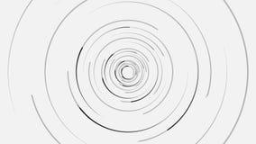Анимация предпосылки экрана радара с движением сканирования, безшовной петлей сердитой Вращая серые узкие линии формировать бесплатная иллюстрация