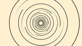 Анимация предпосылки экрана радара с движением сканирования, безшовной петлей сердитой Вращая черные узкие линии формировать иллюстрация вектора