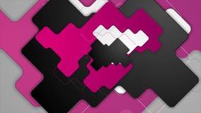 Анимация пурпурного, серого и черного конспекта геометрическая видео- иллюстрация штока