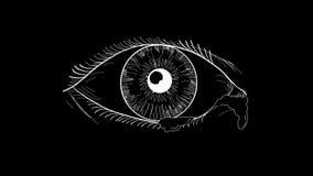 Анимация разрывов глаза плача пропуская 2D акции видеоматериалы