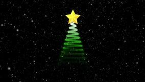 Анимация рождественской елки, концепция праздника праздничная иллюстрация штока