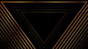 Анимация роскошных золотых треугольников конспекта видео- бесплатная иллюстрация