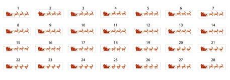 Анимация Санта Клауса который едет сани на северном олене иллюстрация штока