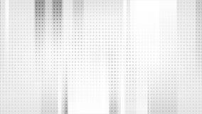Анимация серого техника геометрическая абстрактная видео- иллюстрация вектора